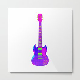 Colorful Guitar Metal Print