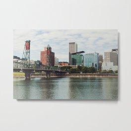 Urban Portland City Scape Metal Print