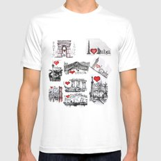 Cities 1  MEDIUM Mens Fitted Tee White