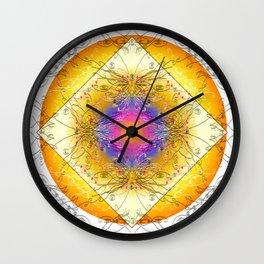 Mandala Blanca Wall Clock