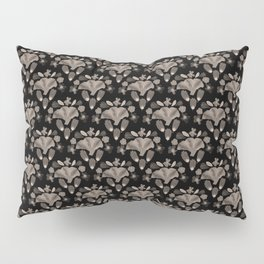 Penelope Black and White Floral Botanical Print Pillow Sham