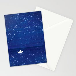 Zen sailing, ocean, stars Stationery Cards