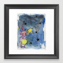 Star Sucker Framed Art Print