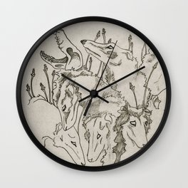 The Greyhound & The Moth Wall Clock