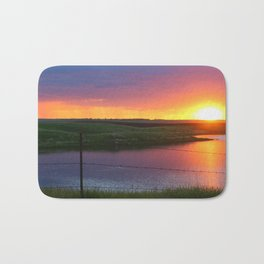 North Dakota Sunset Bath Mat