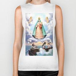 Virgen de N.S. de La Caridad del Cobre (Patrona de de la Isla de Cuba) Biker Tank