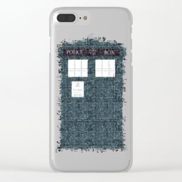 The Timey Wimey of Doctor Who Clear iPhone Case