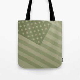 Camo Stars and Stripes – USA Flag in Military Camouflage Colors [FalseFlag 1] Tote Bag