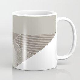 Minimal Trangles Beige Coffee Mug