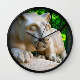 Penn State Nittany Lion Statue Print Wall Clock