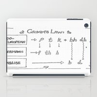 law iPad Cases featuring Grimm's Law by Simpson Jane