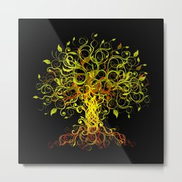 Tree Swirls Metal Print