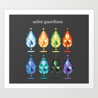 Sailor Guardian Crystals Art Print