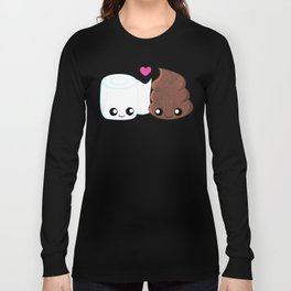 The Best of Friends - Toilet Paper and Poop Long Sleeve T-shirt