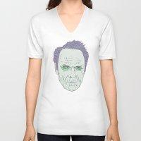 clint eastwood V-neck T-shirts featuring Clint Eastwood by Maciek Szczerba