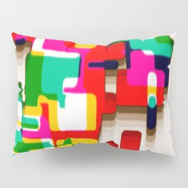Arcade Crayon Collage Pillow Sham