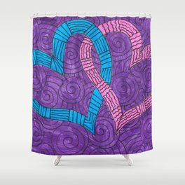 Linked Hearts Shower Curtain