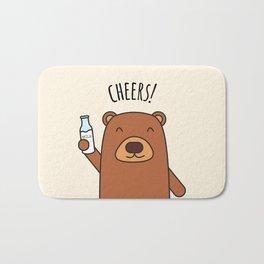 Cheers, Bear! Bath Mat