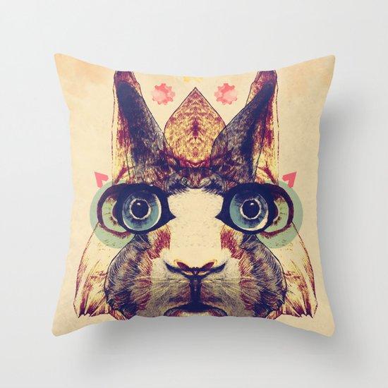 Rabbit Heart Throw Pillow