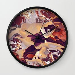 Liquid Beige Wall Clock