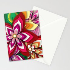 Colourful Flowers Stationery Cards