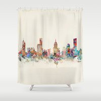 melbourne Shower Curtains featuring melbourne australia by bri.buckley