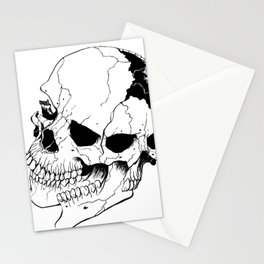 Skull (Fragmented and Conjoined) Stationery Cards