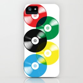 Olympic Rings Vinyl Record Set iPhone Case