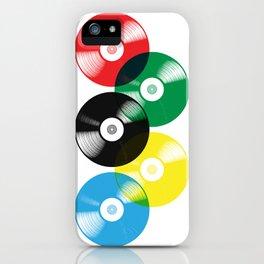 Olympic Rings Vinyl Record Set iPhone Case