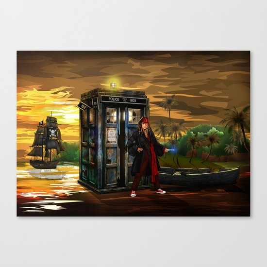10th Doctor who Lost in the pirates age iPhone 4 4s 5 5s 5c, ipod, ipad, pillow case and tshirt Canvas Print