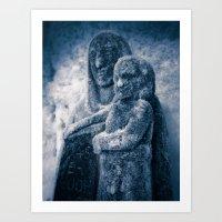 Frozen Madonna and Child Art Print