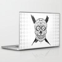 calavera Laptop & iPad Skins featuring Calavera Skull by x Illegitimate | 010 x