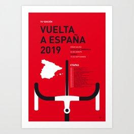 MY VUELTA A ESPANA MINIMAL POSTER 2019 Art Print