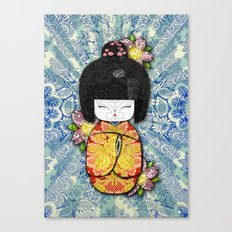 Horror Vacui - Kokeshi01 Canvas Print
