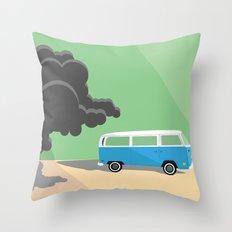 Dharma Van vs Smoke Monster Throw Pillow