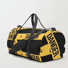 "The tape ""Danger"" black pattern Duffle Bag"