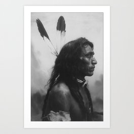 'He Shows His Blood', Cree; photo G. E. Fleming Art Print