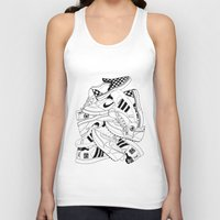sneakers Tank Tops featuring Sneakers Illustration by Hello