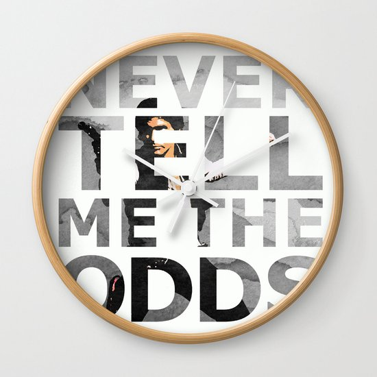 Star Wars Han Solo Quote Wall Clock