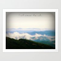 the mountains are calling Art Prints featuring The Mountains Are Calling by Rainey's View