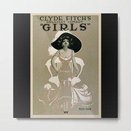 Vintage Poster Glam Metal Print