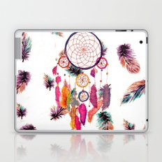 Hipster Watercolor Dreamcatcher Feathers Pattern  Laptop & iPad Skin