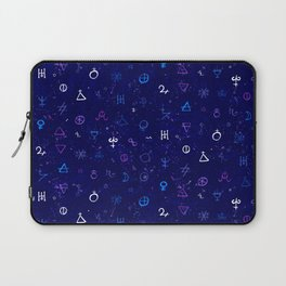 Dark sky with mystic signs Laptop Sleeve