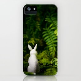 White Bunny with back turned iPhone Case
