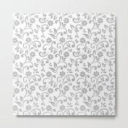 Elegant Wedding Floral Pattern Metal Print