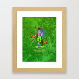 Cernunnos • Green Mage of the Forest Framed Art Print
