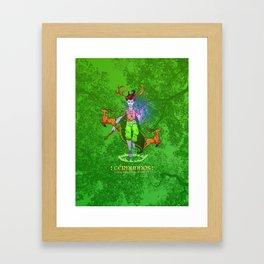 Cernunnos • Green Mage of the Forest Framed Art Print