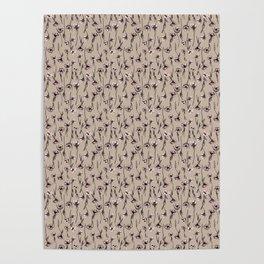 Soft beige Anemones flowers - Hrefna design Poster