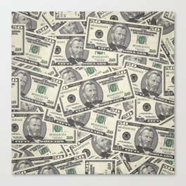 Collage of Currency Graphic Canvas Print