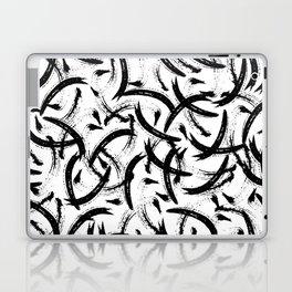 Isobel - Black and white minimal modern urban city brooklyn abstract painting art design hipster Laptop & iPad Skin